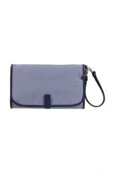 Change Clutch - Navy/White Gingham