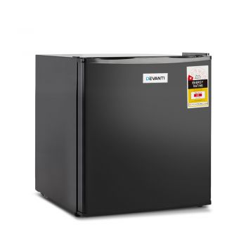 Devanti 48L Bar Fridge Black Mini Freezer Portable Electric Refrigerator Cooler Home Office