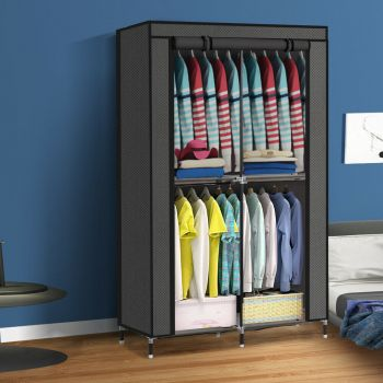 Levede Portable Clothes Closet Wardrobe Storage Organizer Shelves with Window