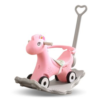 BoPeep Baby 4-in-1 Rocking Horse Toddler in Pink Colour
