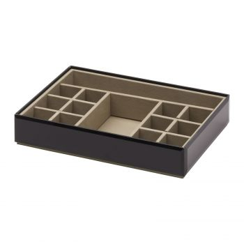 Stackable Fine Jewellery & Trinket Tray - Black