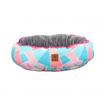 Charlie's Pet Reversible Oval Pad Bed - Multi Triangle Medium