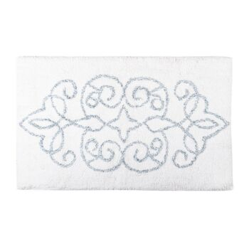 Medallion Tufted Bathmat Jacquard Design