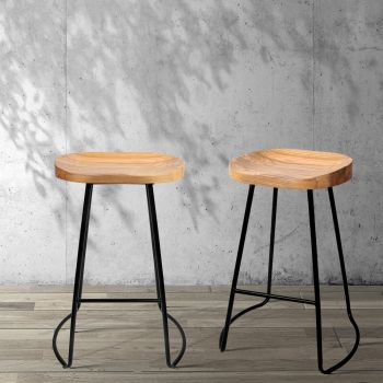 Artiss 4x Vintage Tractor Bar Stools Retro Bar Stool Industrial Chairs 65cm
