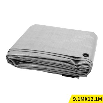 9.1x12.1M Heavy Duty PE Poly Tarps Camping Cover 200gsm