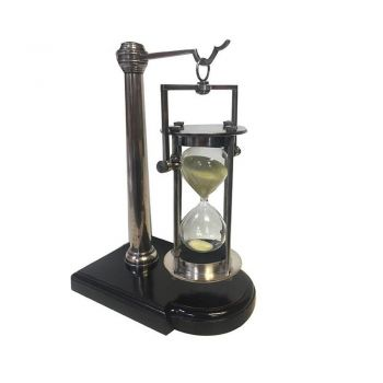 Authentic Models 30 Minute Sandtimer On Stand Silver