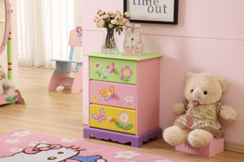 ALL 4 KIDS Olivia the Fairy Girls 3 Drawer Bedside Table