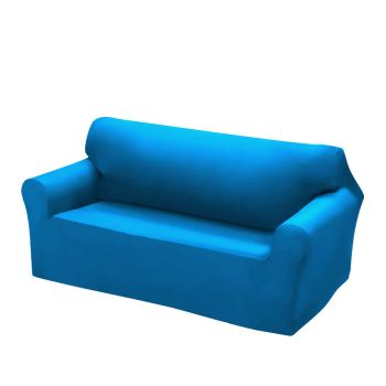 Easy Fit Stretch Couch Sofa Slipcovers 2 Seater in Blue