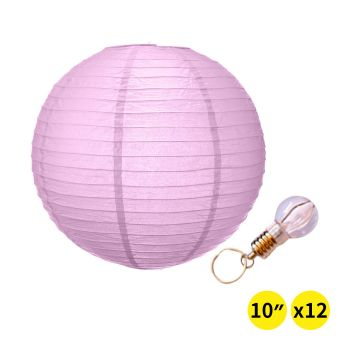 """Accents 12"""" Paper Lanterns for Wedding Party - Pink Colour"""