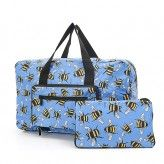 Eco Chic Blue Bees Holdall Bag