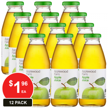 12 Pack, Applewood 350ml Apple Juice