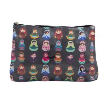 Babushka Print Medium Cosmetic Bag