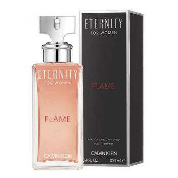 Eternity Flame by CALVIN KLEIN for Women (100ML) Eau de Parfum-BOTTLE