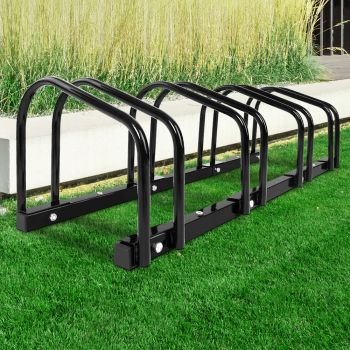 4 Bike Floor Parking Rack Instant Storage Stand Bicycle Cycling Portable Racks Black