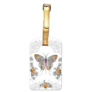 Luggage Tag-Paisley Butterfly