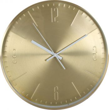 STOCKHOLM ALUMIN. WALL CLOCK GOLD WITH WHITE HANDS 31 X 4CM