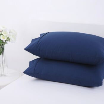 Dreamaker 250Tc Plain Dyed Standard Pillowcases - Twin Pack - 48X73Cm Insignia Blue