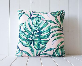 Outdoor Cushion - Monstera - Pink - 45x45