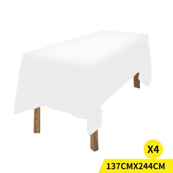 Fitted Wedding Tablecloth for Events in White