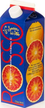 Rosso Blood Orange Juice Italian Blood Red Orange Juice (12 Bottles)
