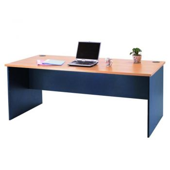 Mantone Executive Office Work Desk - 180cm - Beech/Ironstone