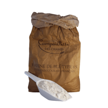 French Bread Flour - T65 Campaillette Des Champs 25kg (Packaged in white paper bags)