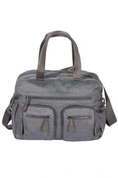 Carry All Denim Grey Nappy Bag