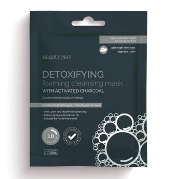 BeautyPro Detoxifying Bubbling Cleansing Mask with Activated Charcoal (1 x 20g)