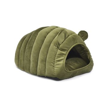 Bedding Castle Igloo Round Nest Comfy Cat Bed Medium in Green