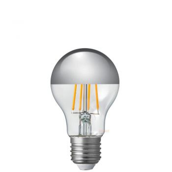 9W A60 GLS Silver Crown Dimmable Filament LED Light Bulb E27 Edison Screw
