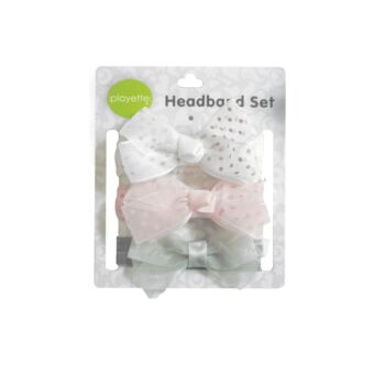 3 Pack Pretty Bows Headbands