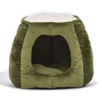 Bedding Castle Igloo Round Nest Comfy Cat Bed Bedding for Cats Medium in Green