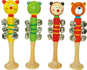 ANIMAL BELL STICK with BASE