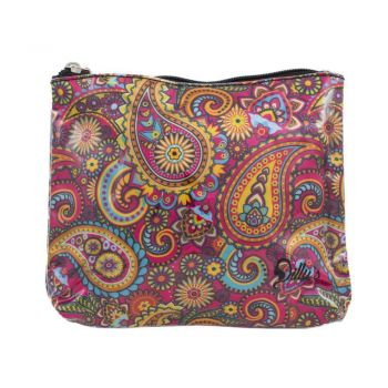 Retro Print Small Cosmetic Bag