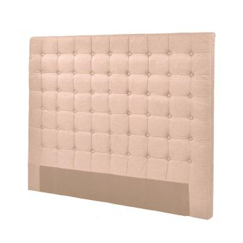 Levede Bed Frame Fabirc Base Bed Headboard in Queen in Beige