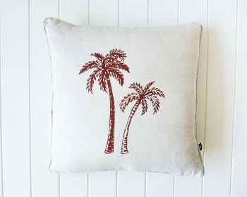 Indoor Cushion - Linen Feather - Twin Palm Natural - 50x50