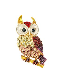 Barcs Australia Owl Women's Gold Plated Brooch