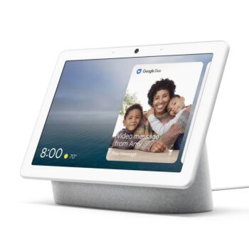 """Google Nest Hub Max 10"""" HD Touch Smart Display & Home Assistant Chalk"""