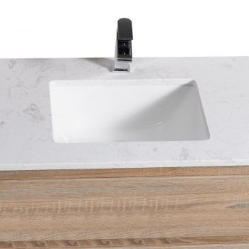 Bathroom Vanity Basin and Pull Storage 750mm with Stone Top