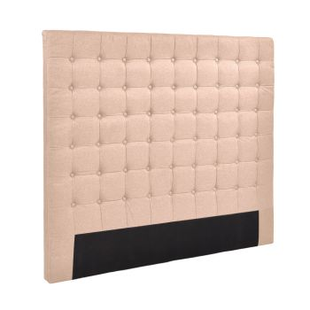 Levede Bed Frame Fabirc Base Bed Headboard in King in Beige
