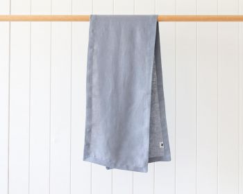 Linen Table Runner - Dusty Blue - 28x126