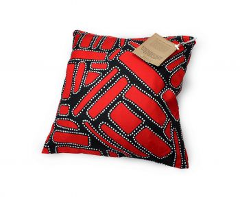 Cushion Aboriginal Design - Dja Abu (Camping Ground) - Jedess Hudson