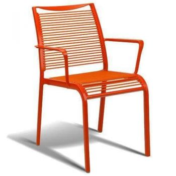 Wanika Outdoor Dining Armchair - Red Frame
