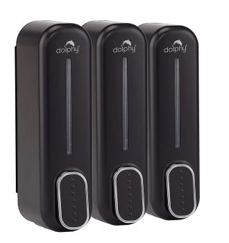 Dolphy Soap Dispenser 350ML Set of 3 – Black