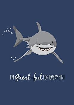 Greeting Card- Great White Shark