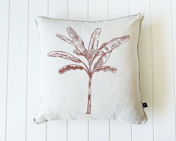 Indoor Cushion - Linen Feather - Banana Palm Natural - 50x50