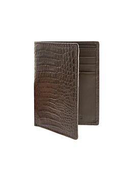 Crocodile Print Leather Wallet with RFID Blocking Protection