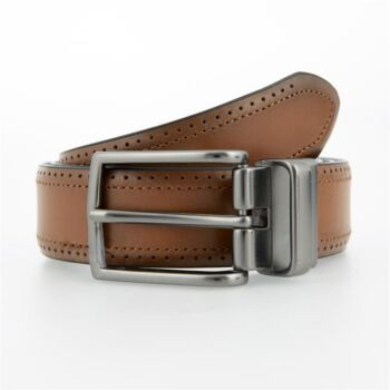 Brogue Style Reversible Leather Belt