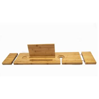The Relax-a-Mate Premium Bamboo Bath Caddy Shelf | by Couchmate