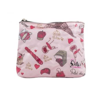 Paris Print Small Cosmetic Bag